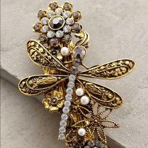 NWOT Anthropologie Dragonfly Gold hair Barrette